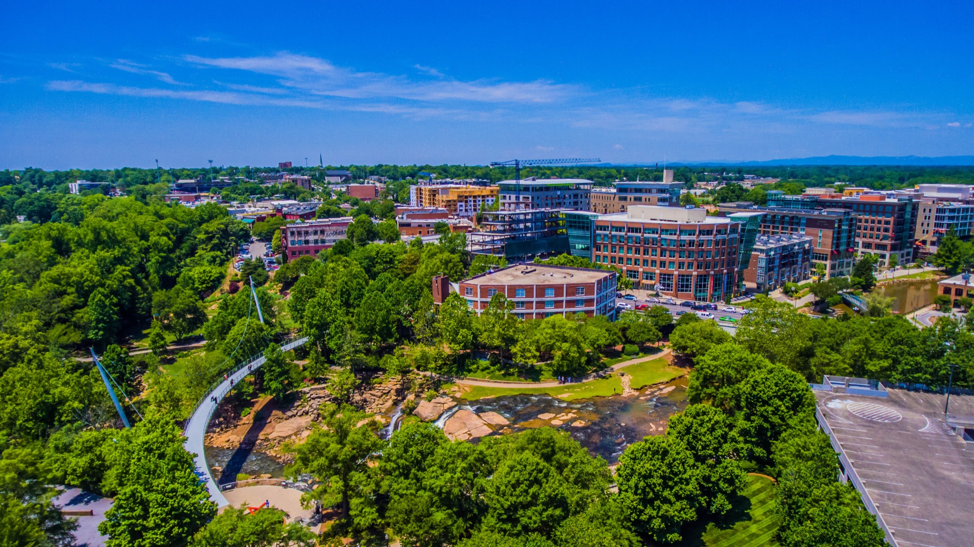 Downtown Greenville, SC skyline